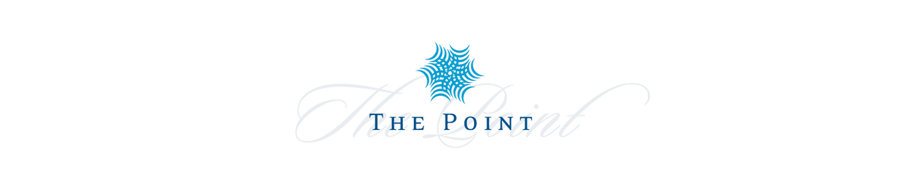 The Point banner on white background