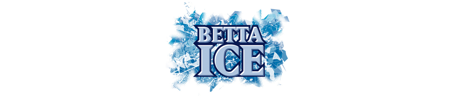 Betta Ice banner on white background