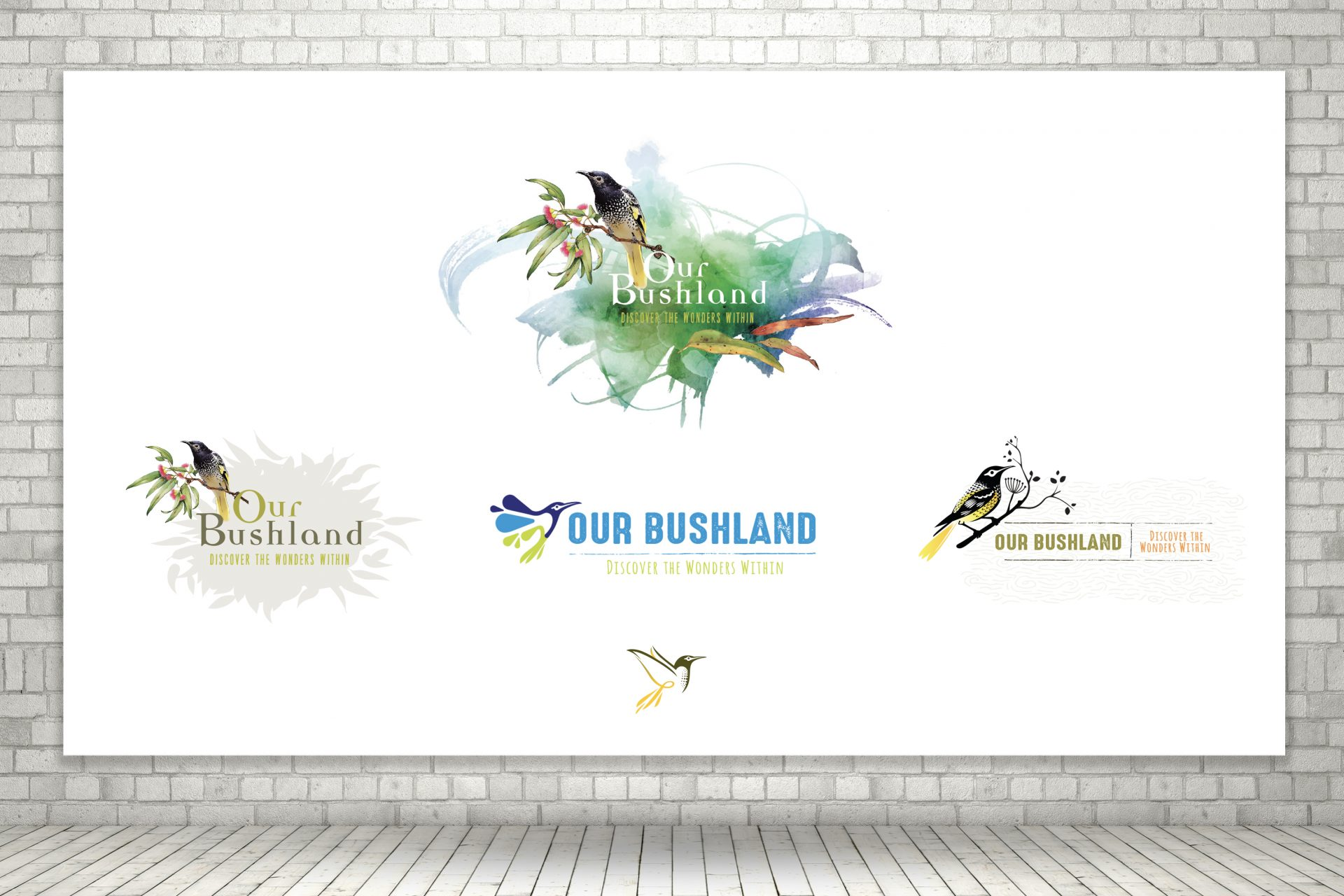 Our Bushland Logo options for Cessnock City Council