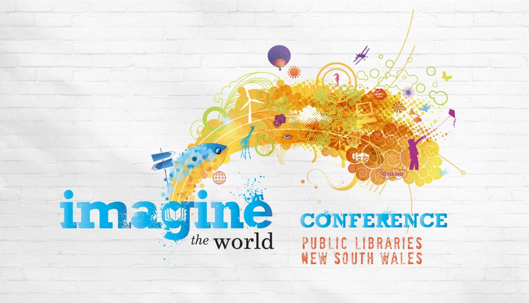 Imagine the World Conference Logo for Public Libraries New South Wales
