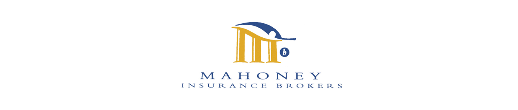 Mahoney Insurance banner on white background