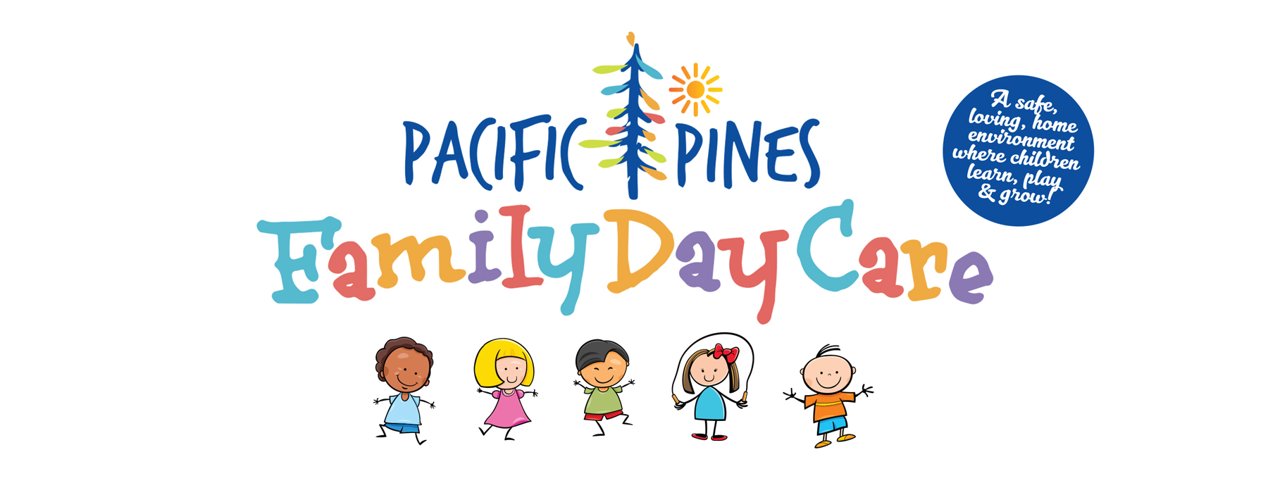 Pacific Pines Family Day Care Logo on white background isolated