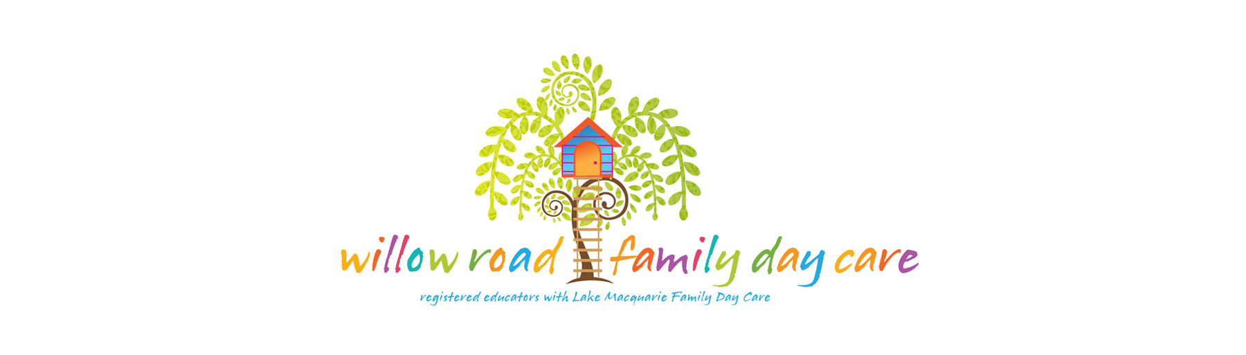 Willow Road Family Day Care Logo on white background isolated