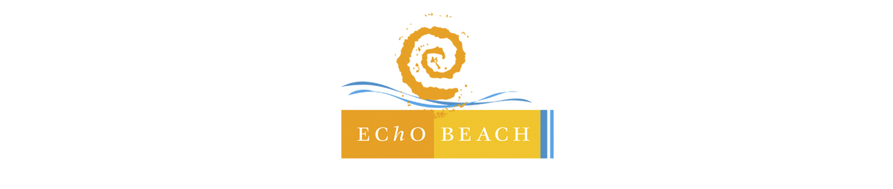 Echo Beach banner on white background