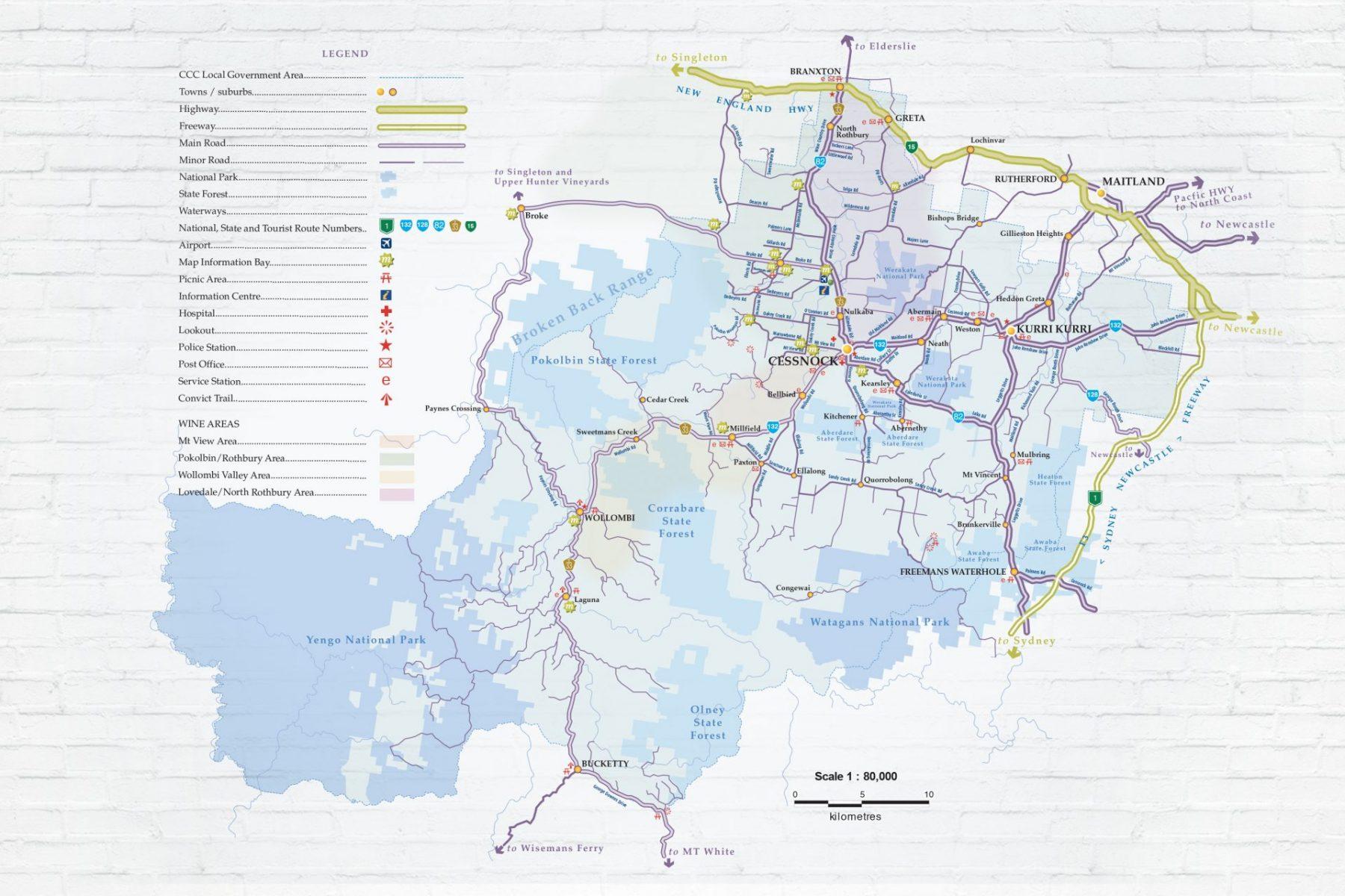 Cessnock City Council LGA Map Work