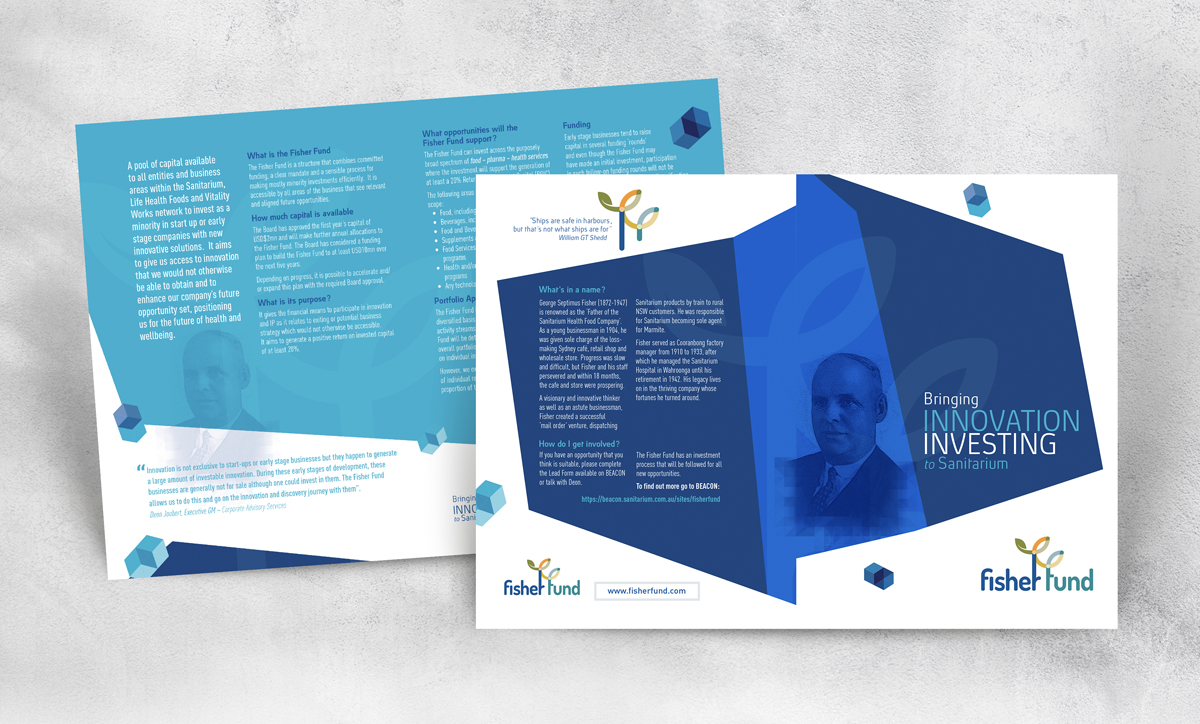 Fisher Fund 4 Page A5 Brochure for Sanitarium