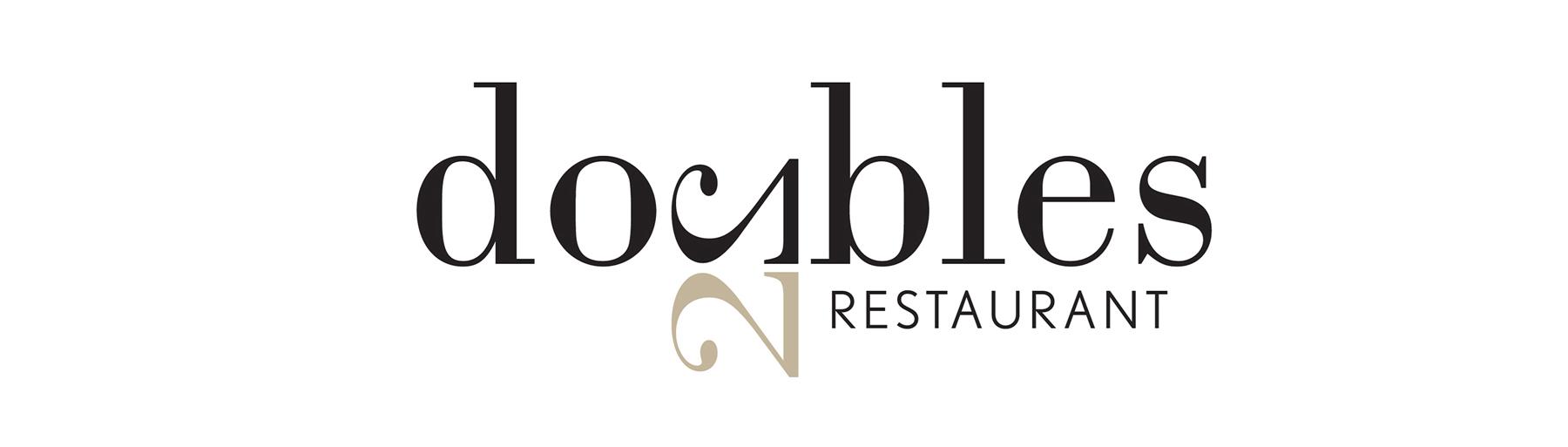 Doubles Restaurant Logo Banner