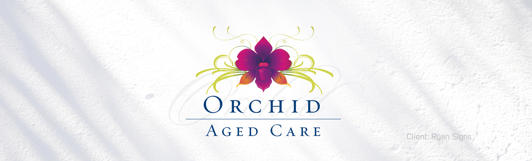 Orchid Aged Care Facility Logo Banner
