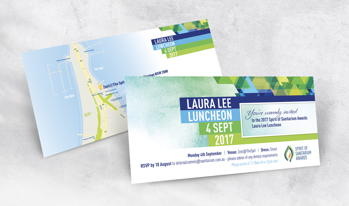Laura Lee Luncheon 2 Page DL Invitation for Sanitarium