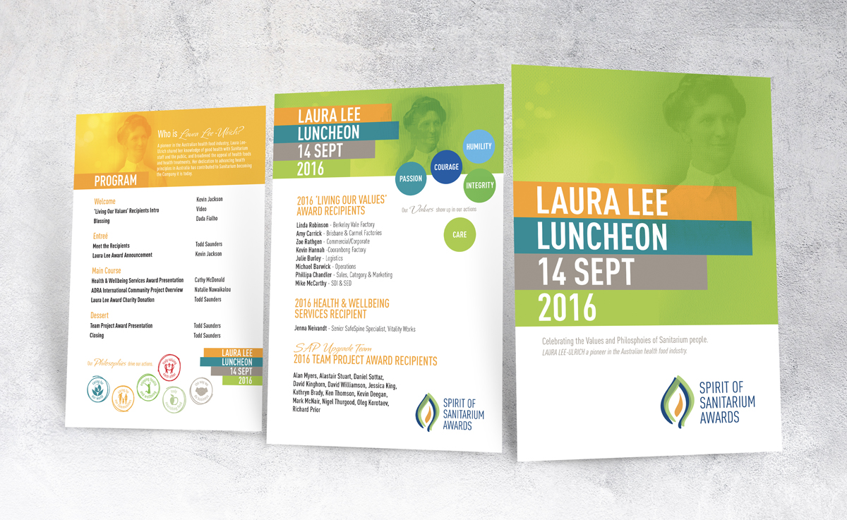 Laura Lee Luncheon 8 Page A5 Program for Sanitarium