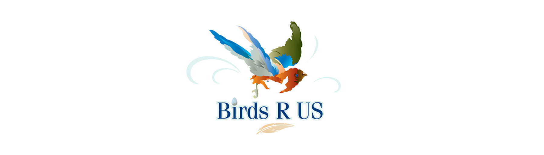 birds are us banner on white background