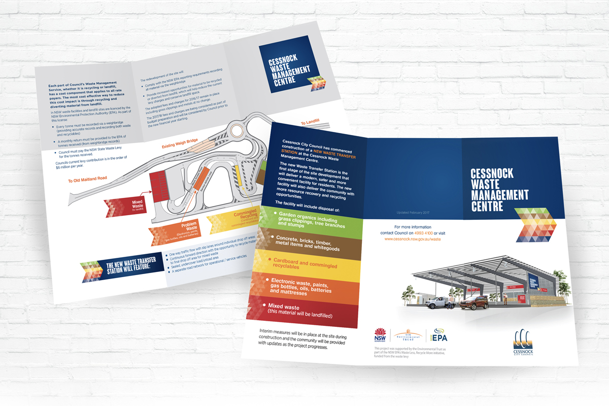 Waste Management Centre Brochure for Cessnock City Council