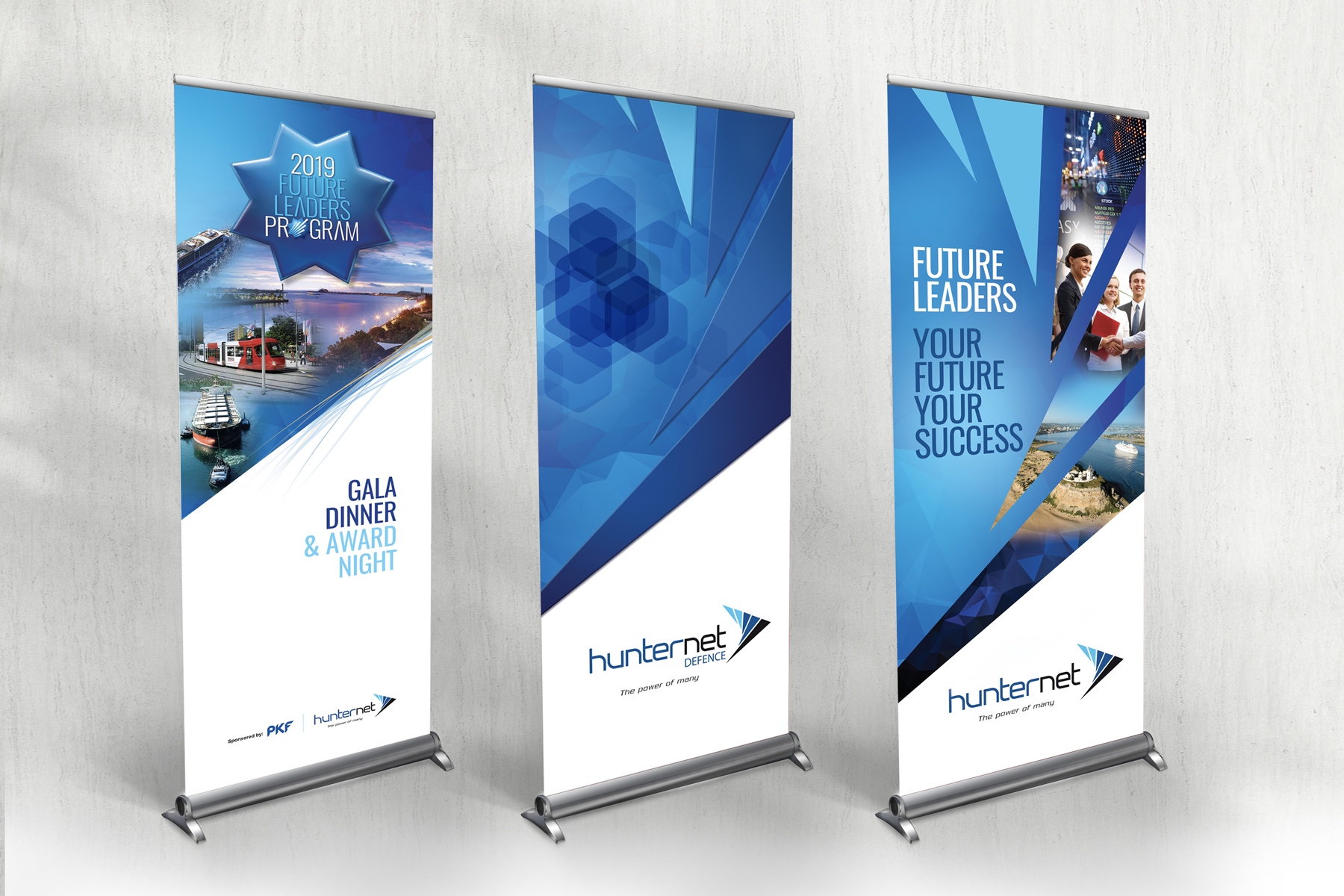 Hunternet Future Leaders Pull Up Banners