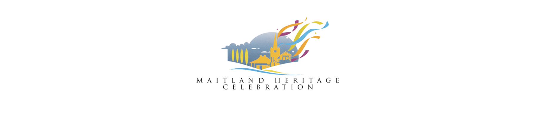 Maitland heritage celebration banner on white background