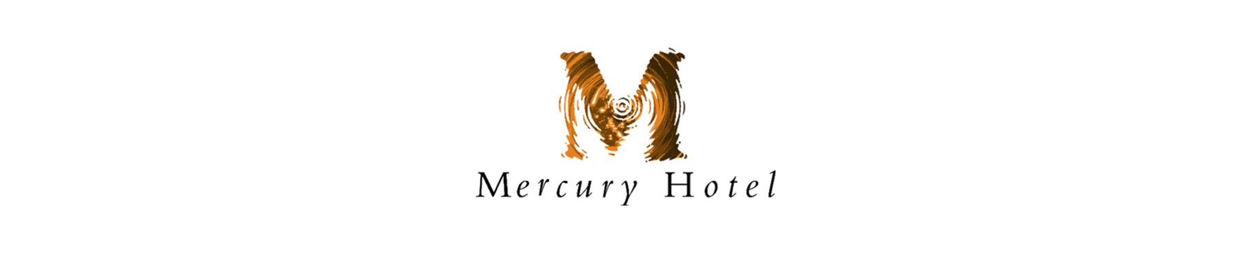 Mercury Hotel banner on white background