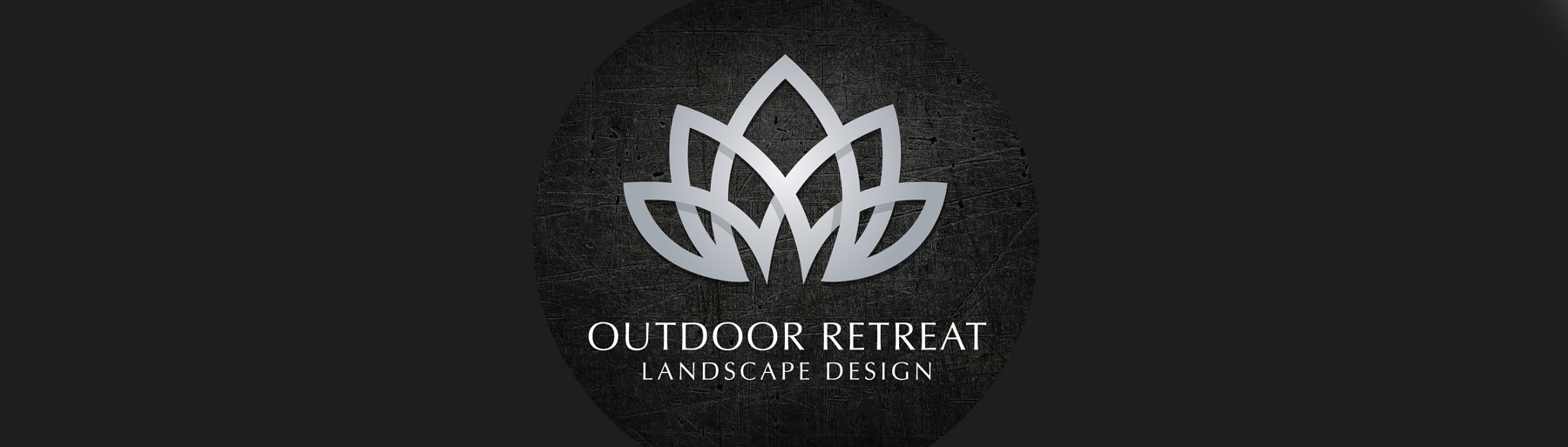 Outdoor Retreat Landscape Design Logo on black