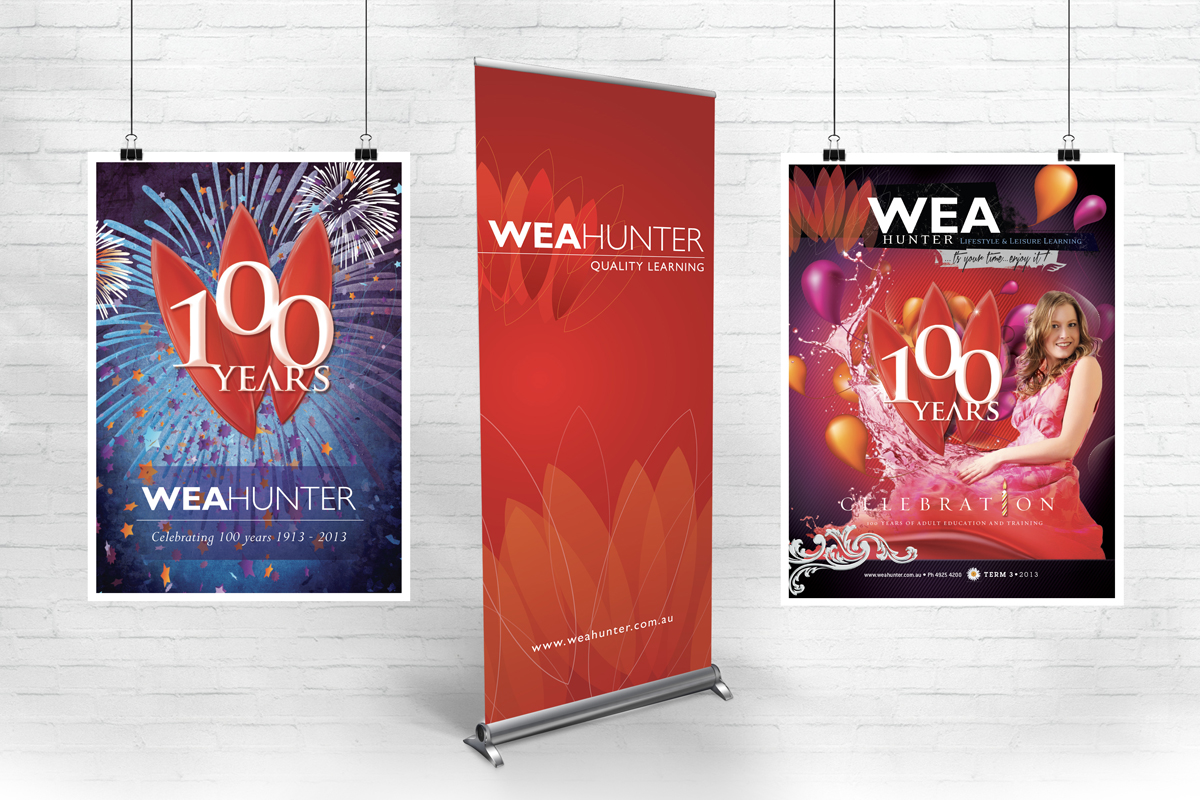 WEA Hunter Pullup Banner Poster and Course Guide Cover