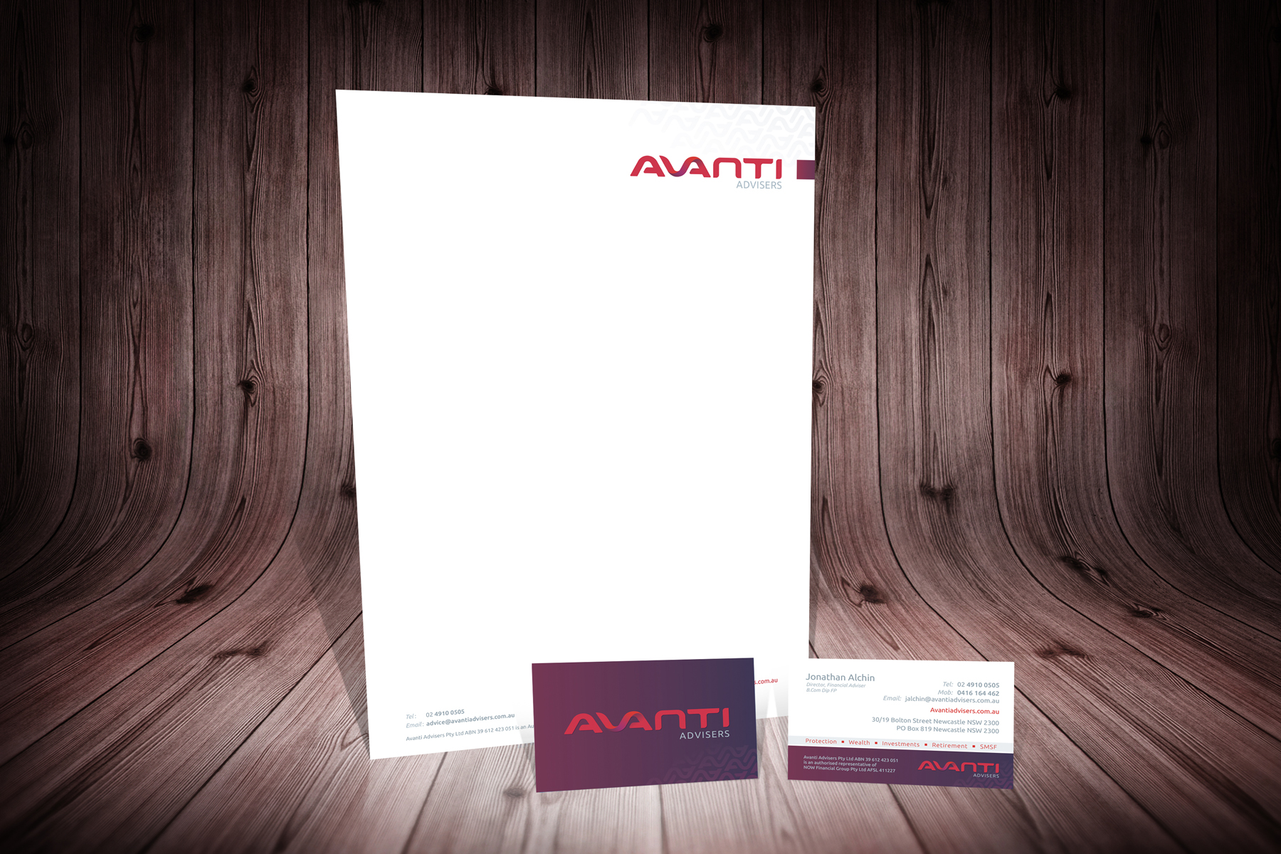 AVANTI Advisers Financial Services Stationery Wall and Floor