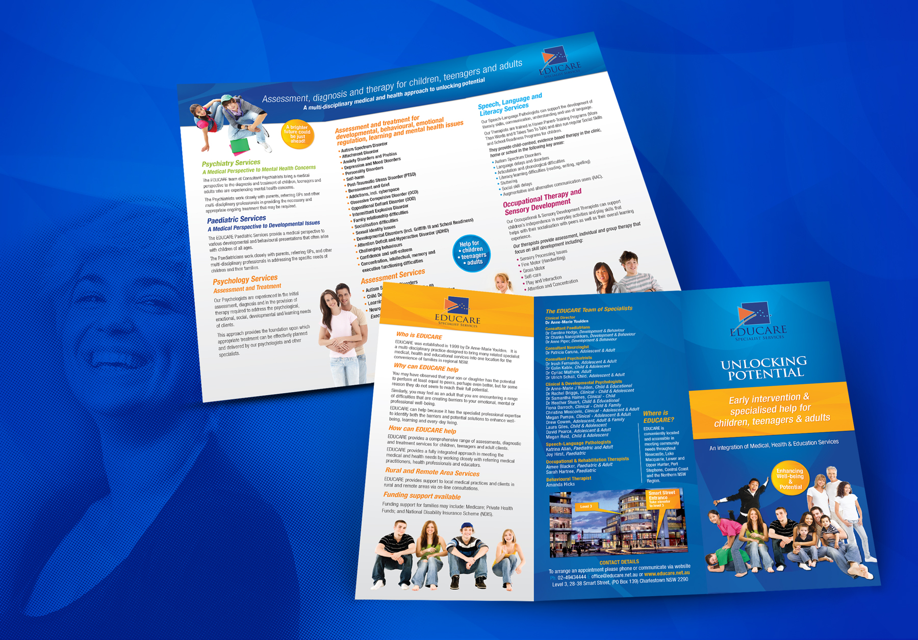 Educare brochure for families teens and adults