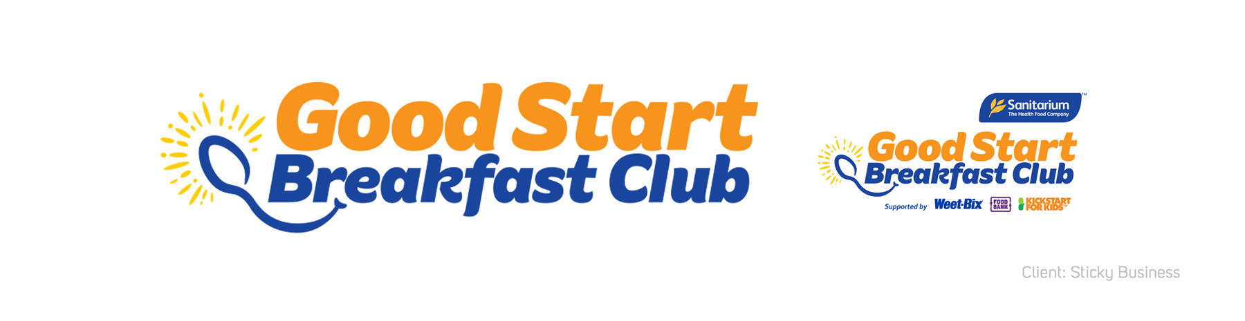 Sanitarium Good Start Breakfast Club logo Banner