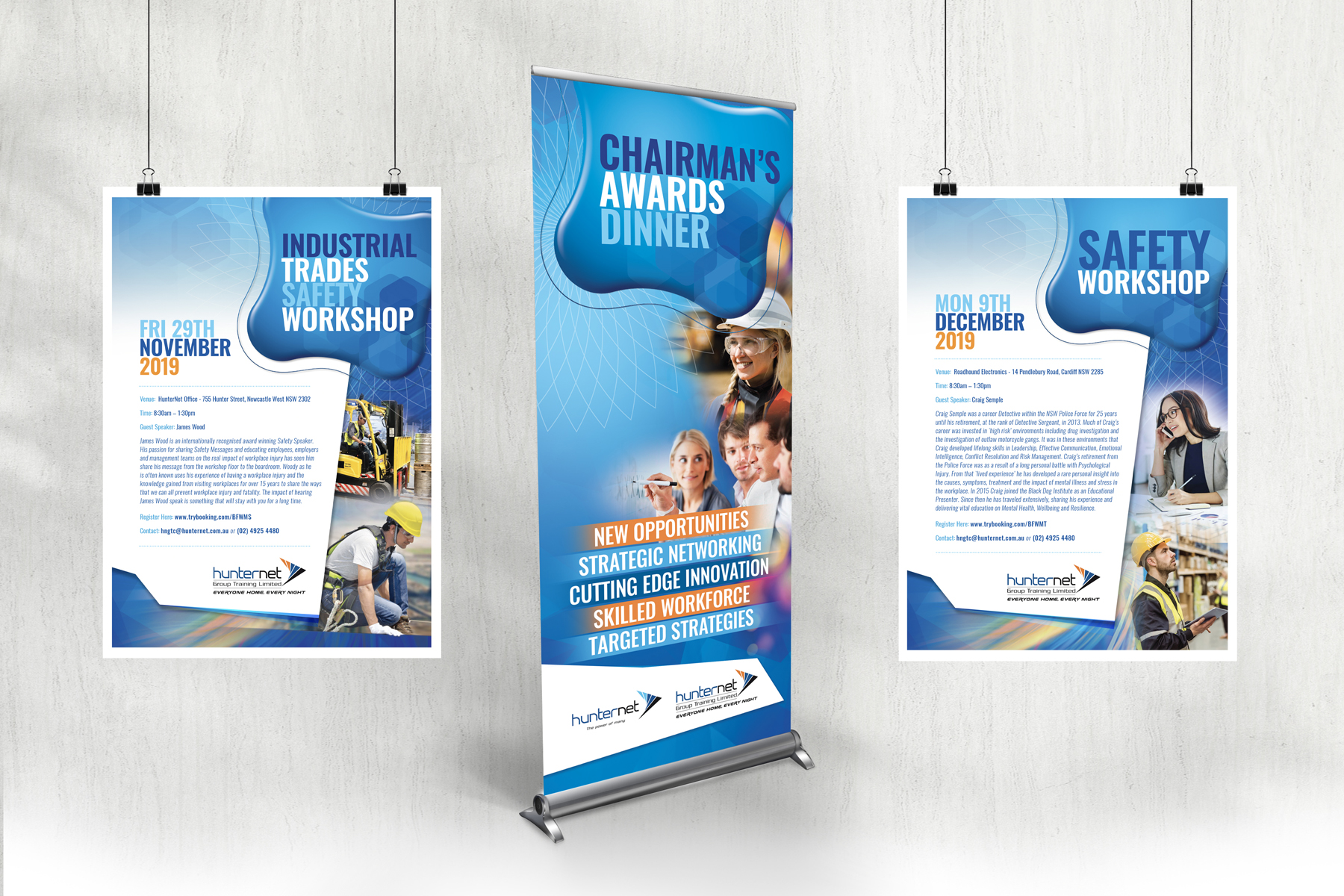 Hunternet Chairmans Awards Pull Up Banner and Posters
