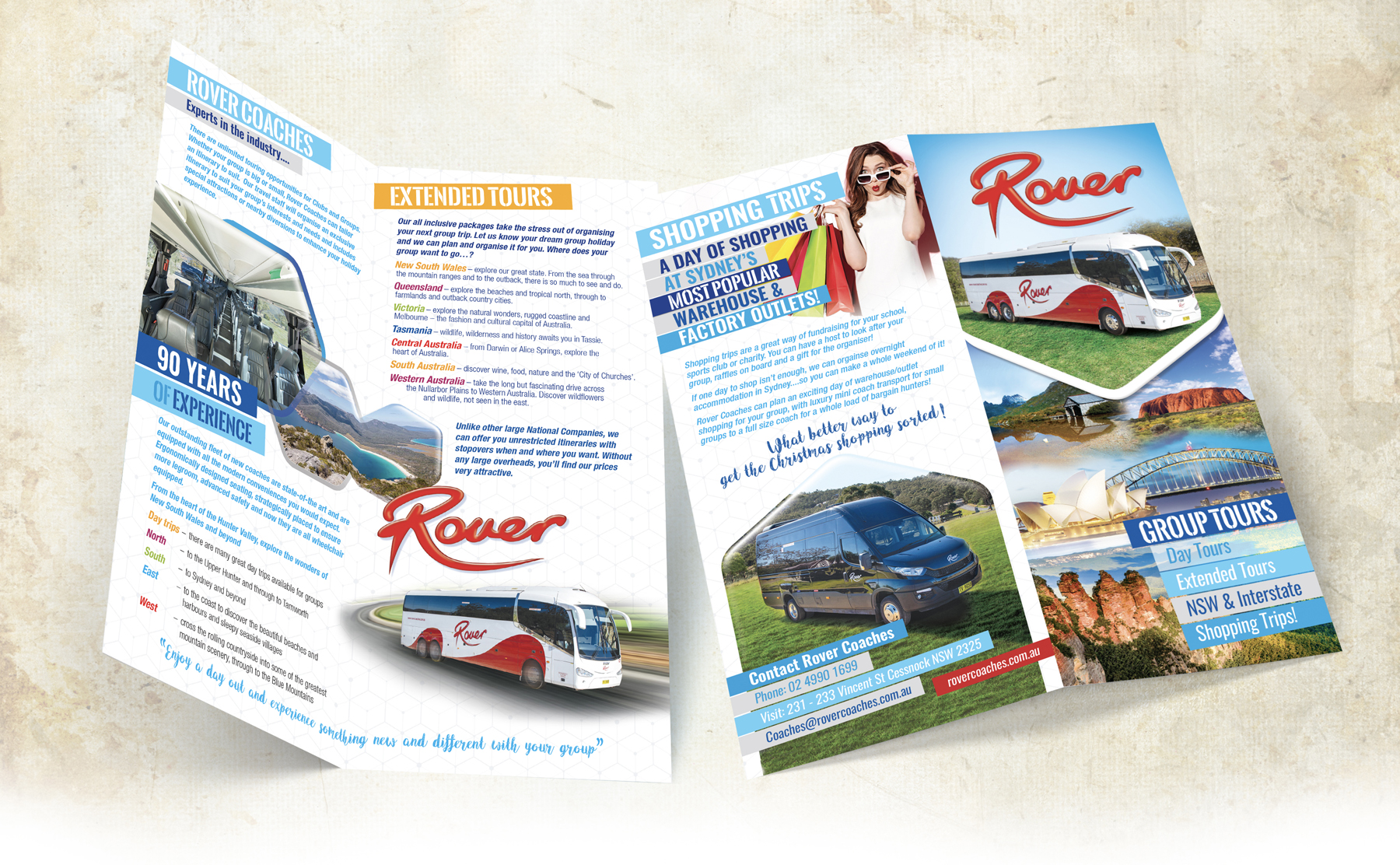 Rover Coaches 4 Page Tours DL