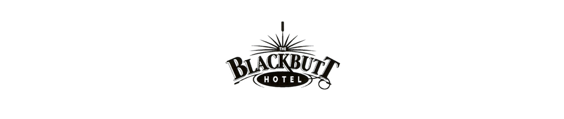 Blackbutt Hotel banner on white background