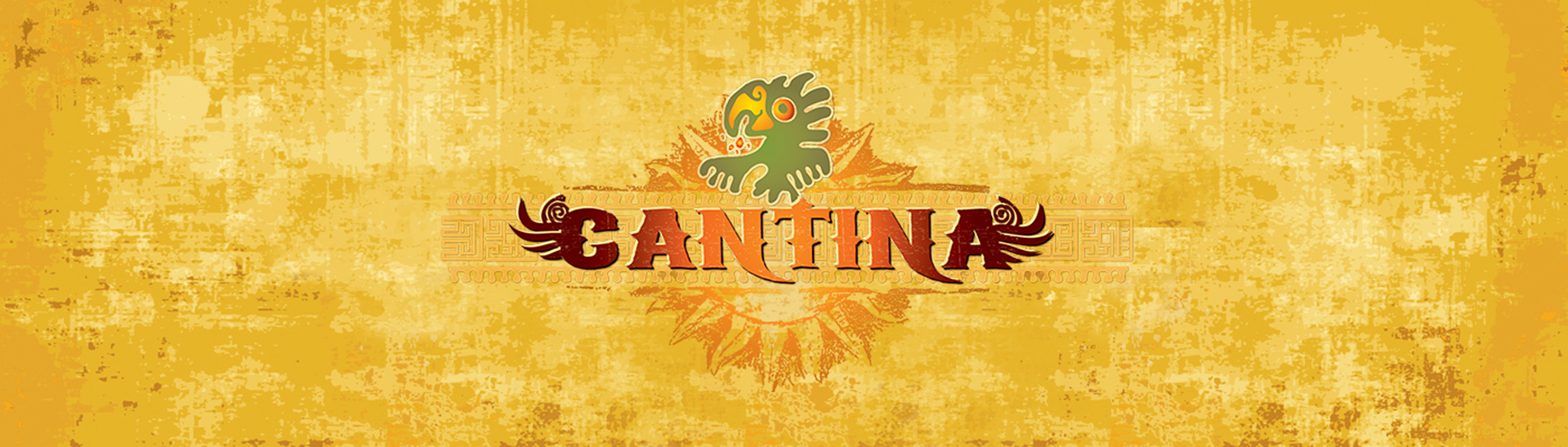 West Group Cantina Restaurant Logo on Grunge Background
