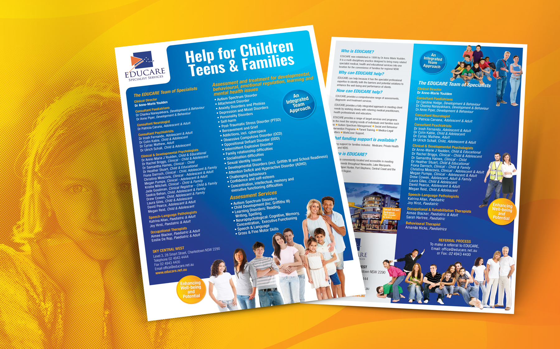 Educare help for children and families brochure