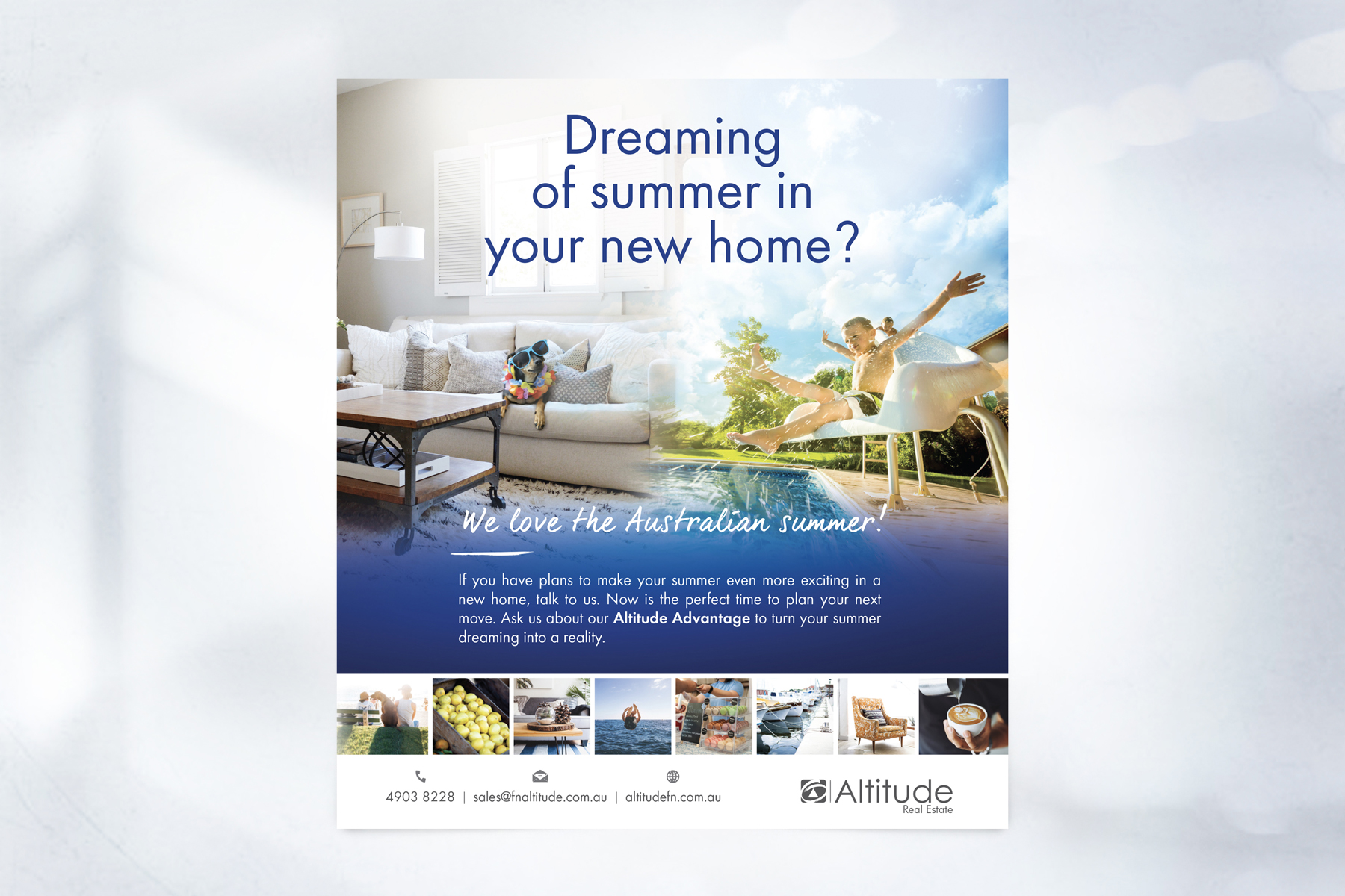 First National ALTITUDE Full Page Press Advertisement Dreaming of Summer