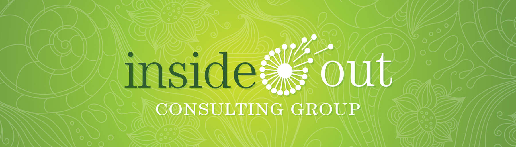 Inside Out Consulting Group Logo on Green background Wallpaper
