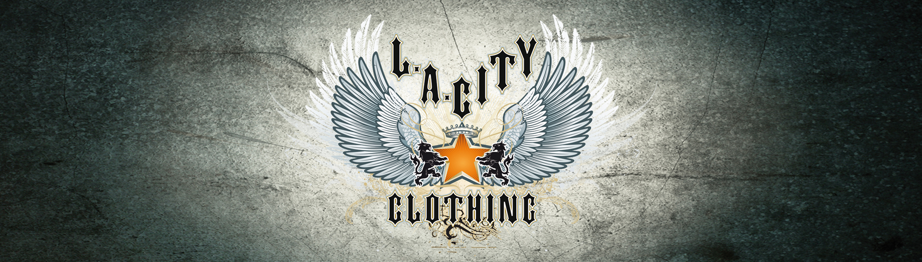 LA City Clothing Logo on dark grunge background
