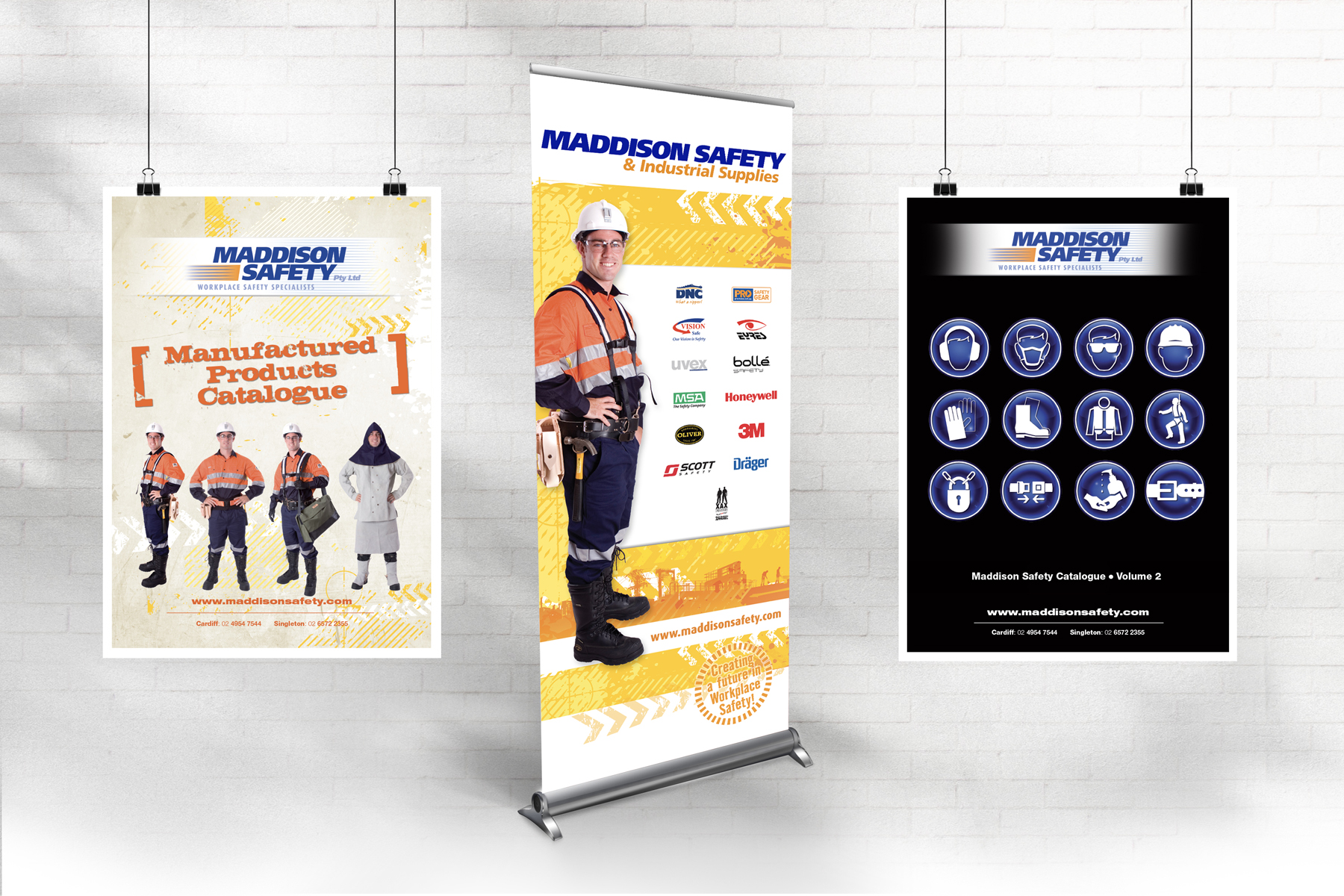 Maddison Safety Pull-up Banner and Catalogue Covers