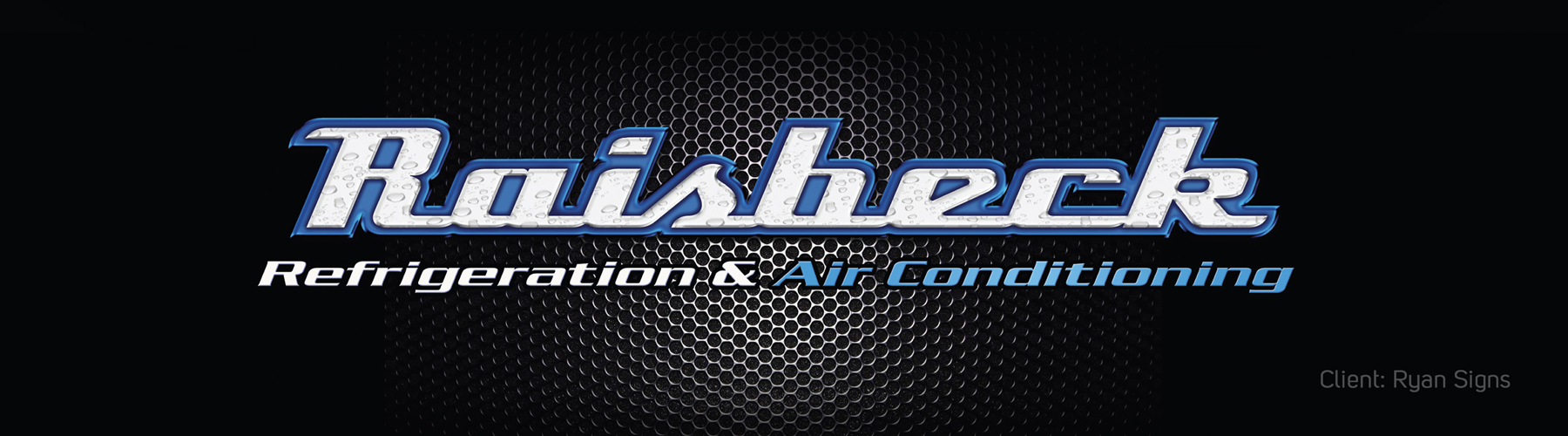 Raisbeck Refrigeration and Air Conditioning logo display banner