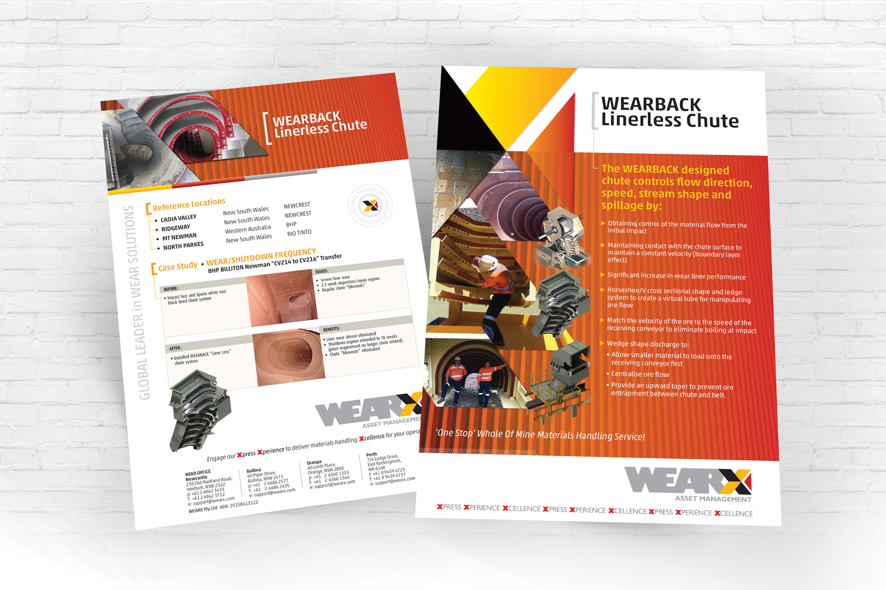 WEARX 2 Page A4 WEARBACK Linerless Chute Information Document