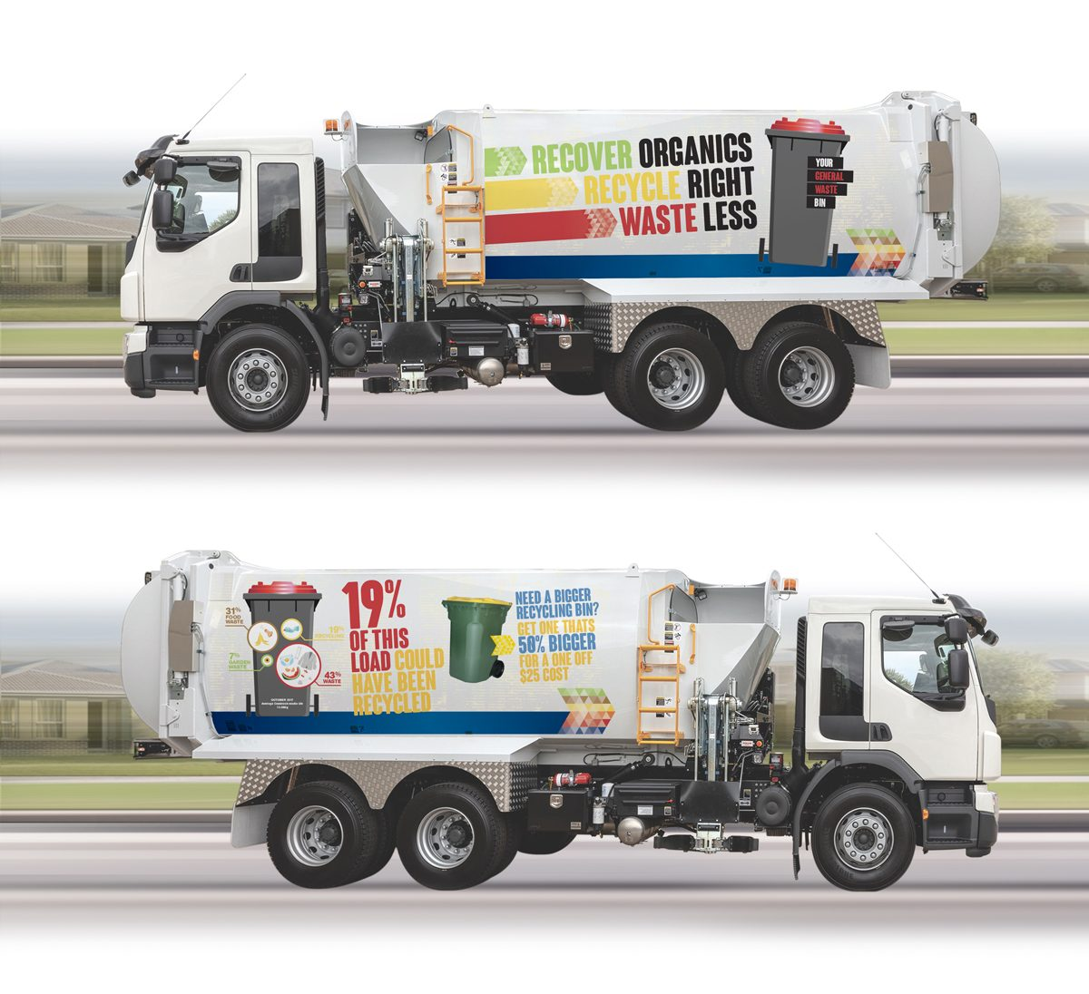 Waste Vehicle Signage for Cessnock City Council Waste Management Centre