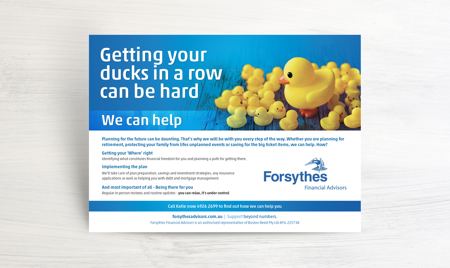 Forsythes Press Advertisement Exceeding Your Expectation