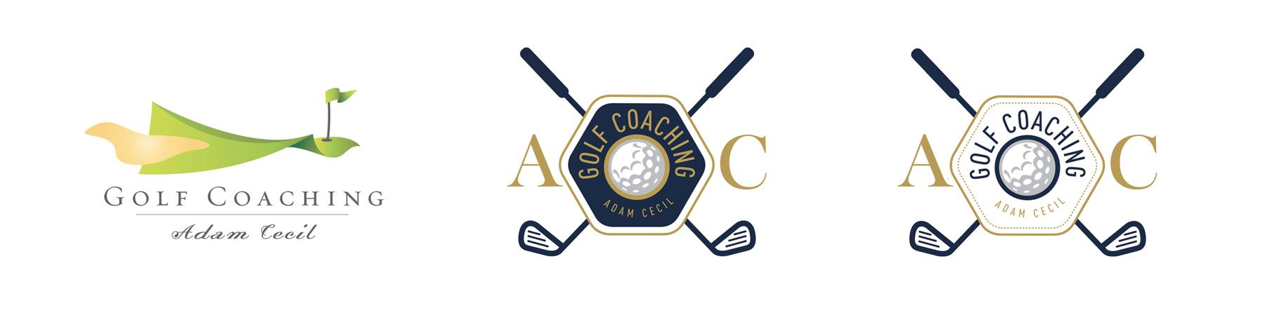Adam Cecil Golf Coaching Logo Banner