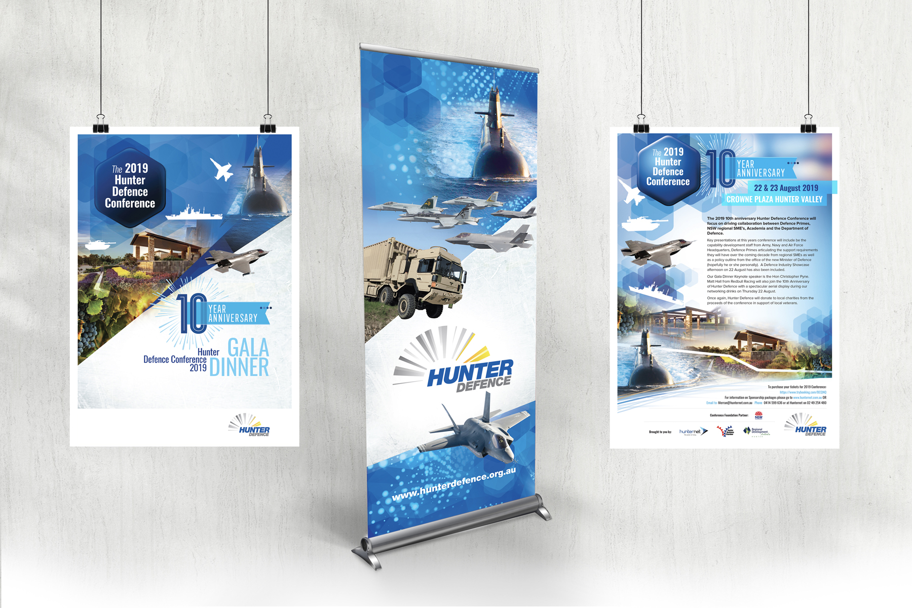 Hunter Defence Pull Up Banner and Posters