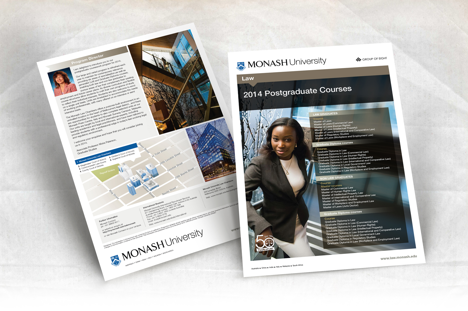 Monash University 2 Page A4 Law Postgraduate Courses