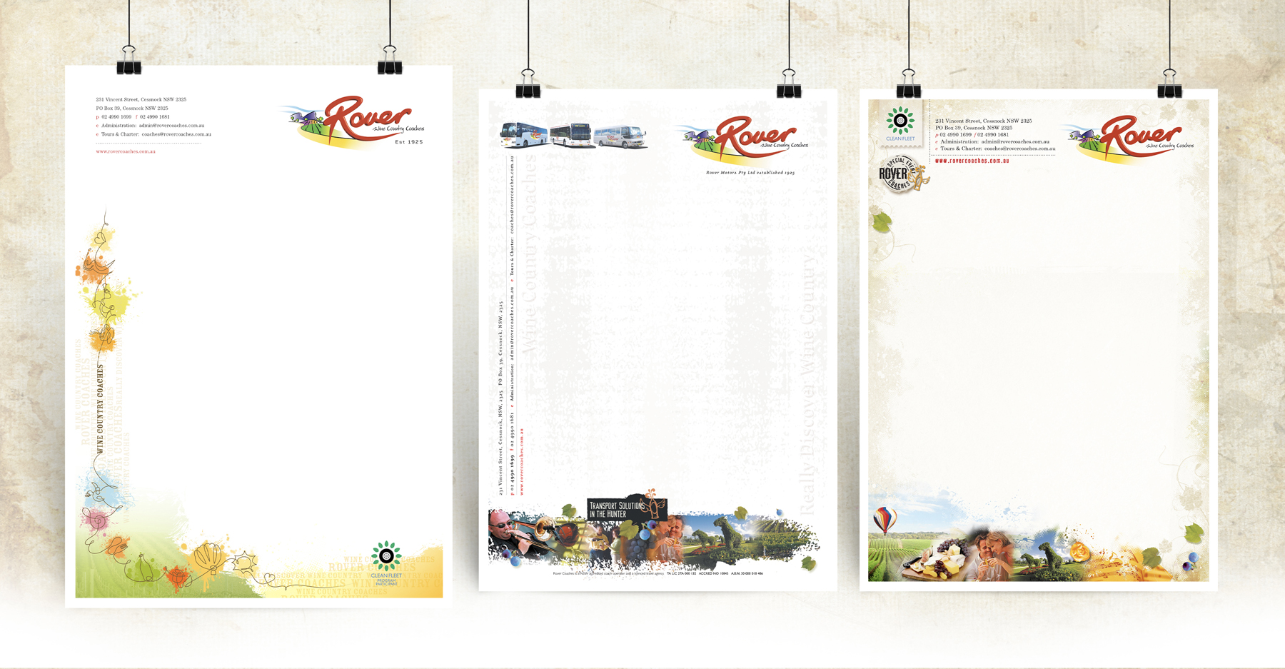 Rover Coaches 3 Letterhead Samples