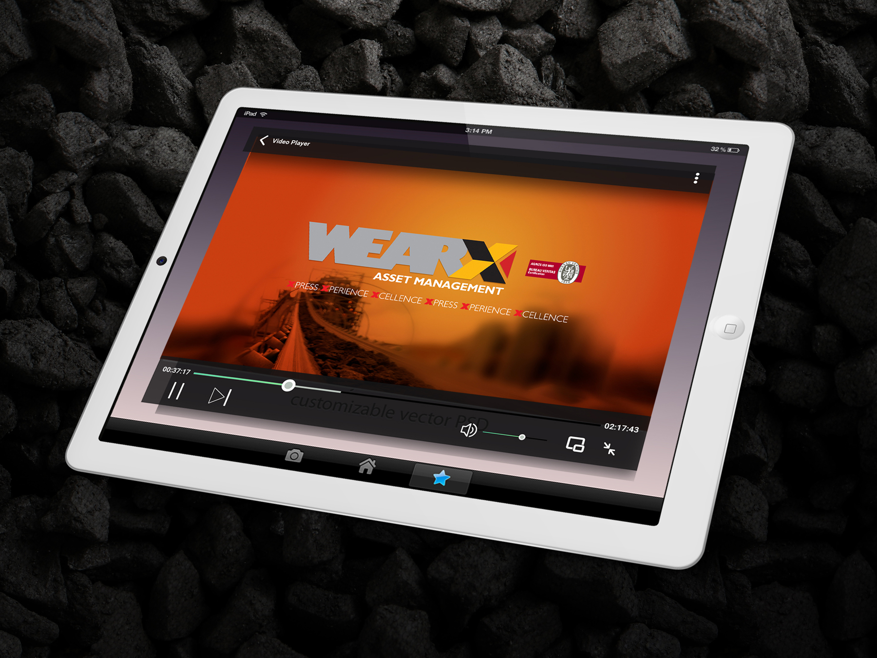 WEARX Video Promotion on iPad