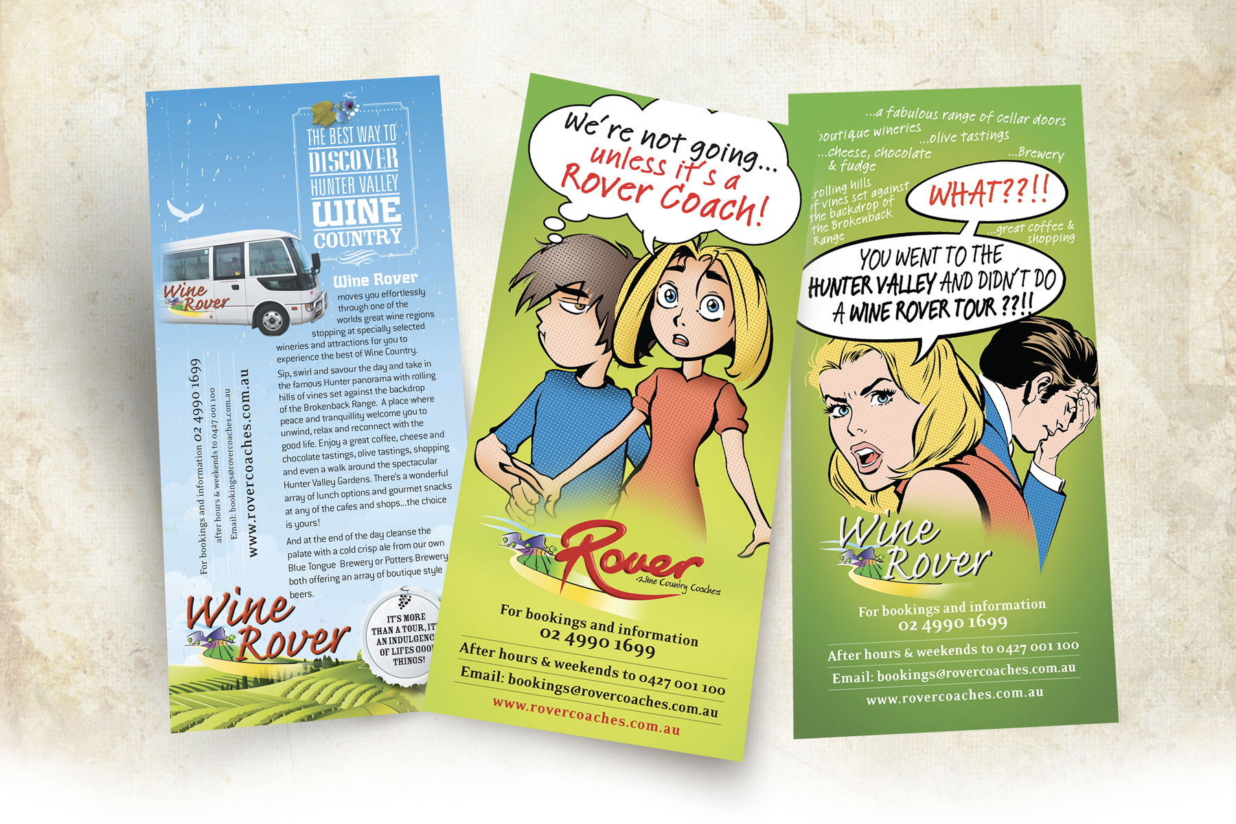Rover Coaches DL Brochure Samples