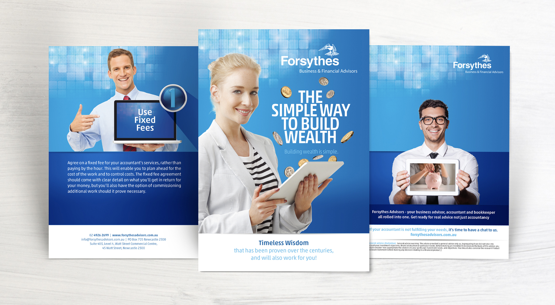 Forsythes A5 8 page Build Your Wealth Brochure Sample Pages