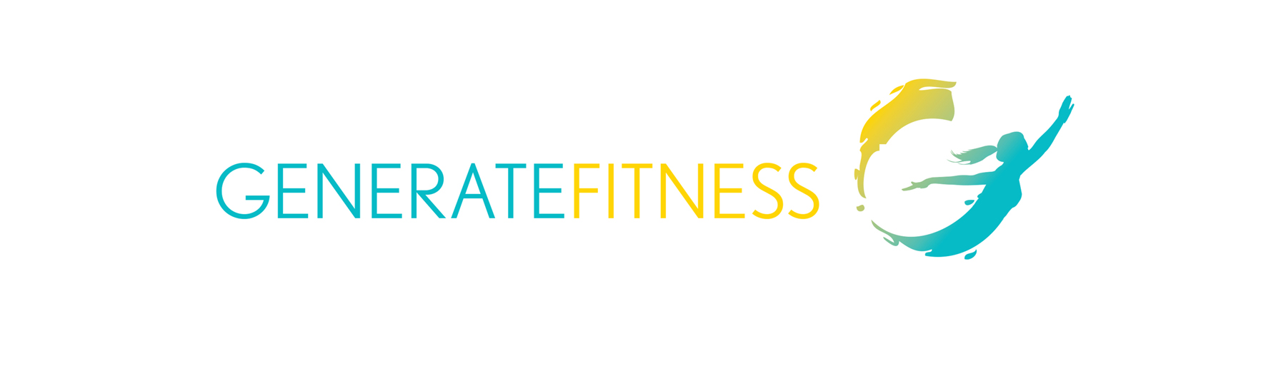 Generate Fitness Logo on white background isolated