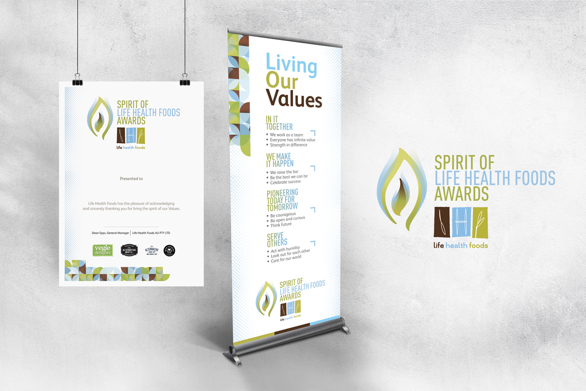 Spirit of Life Health Foods Pull-up Banner and A2 Poster