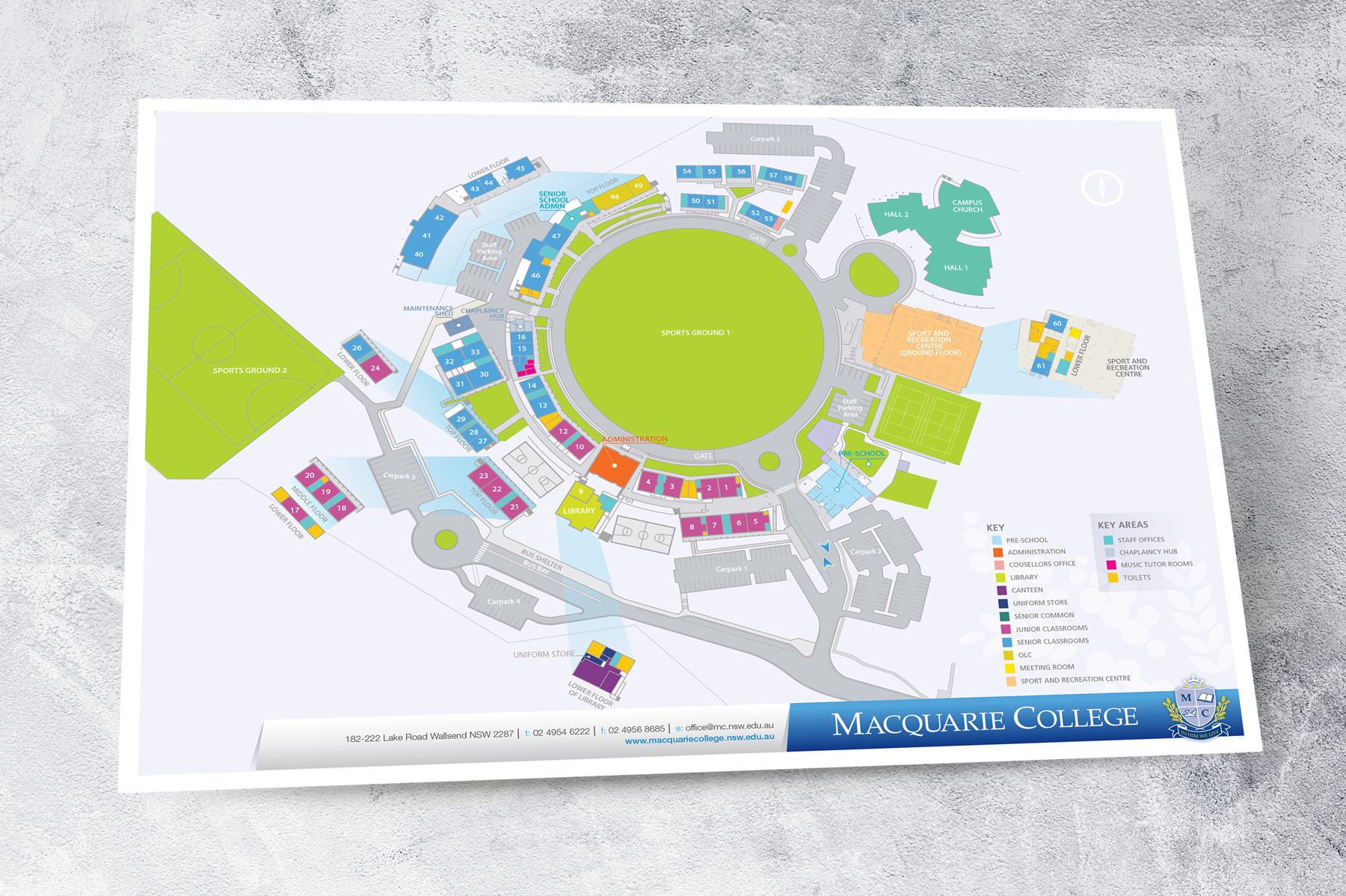 Macquarie College detailed site map illustration