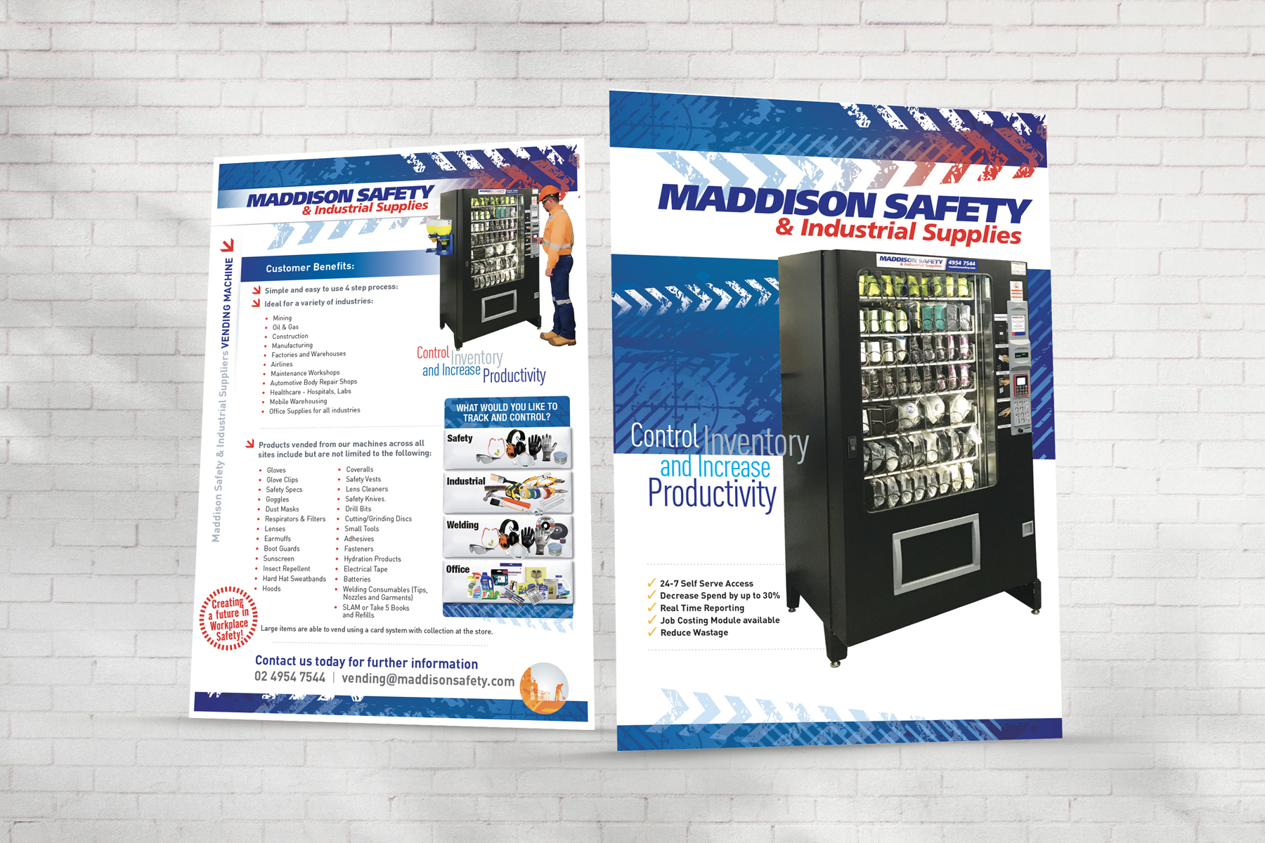 Maddison Safety 2 Page A4 Vending Brochure Sample