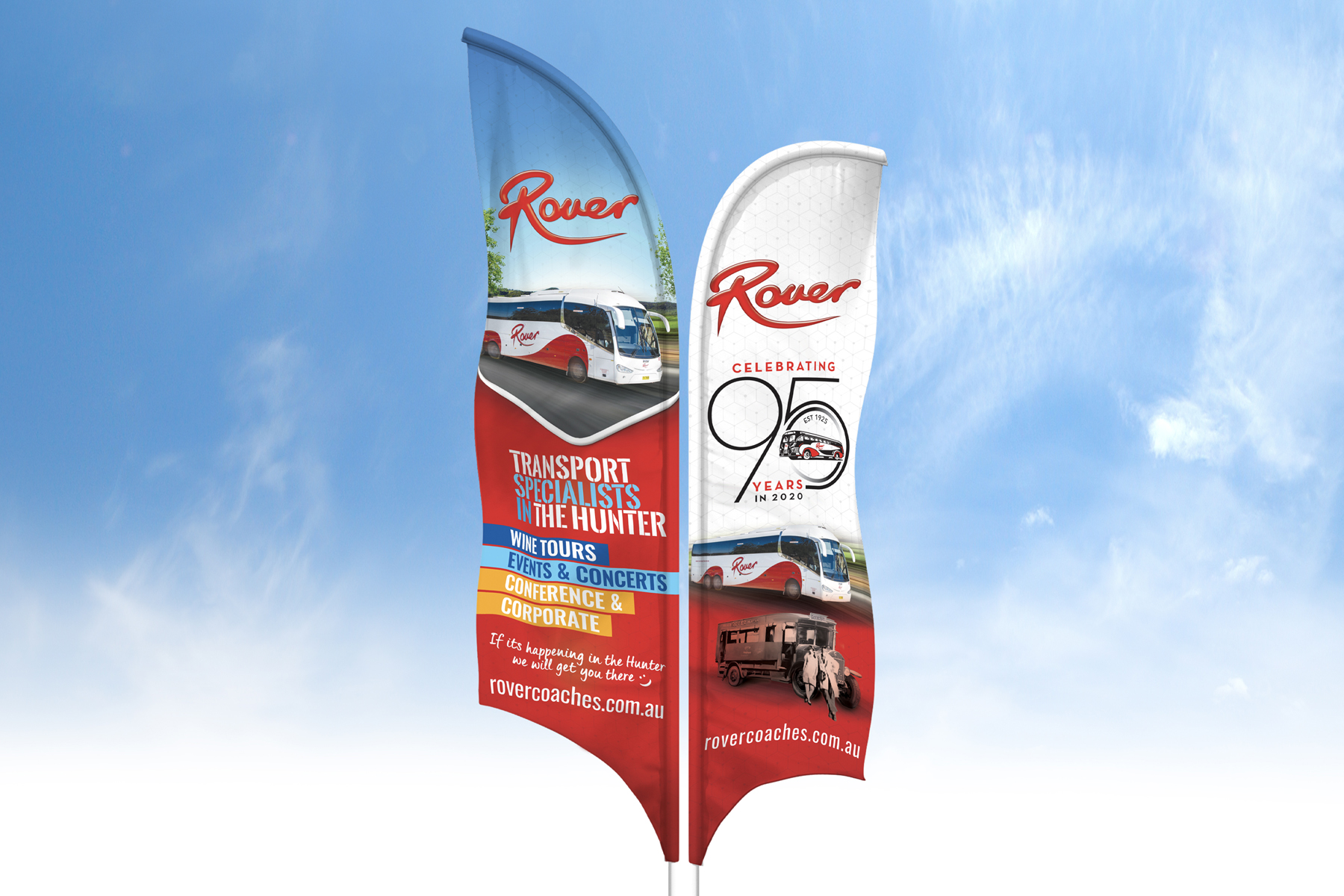 Rover Coaches Feather Flags
