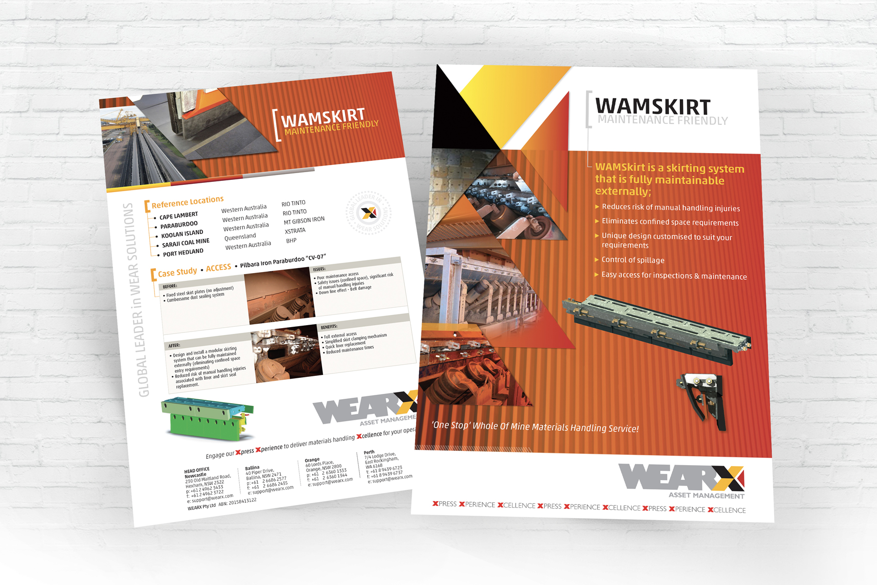 WEARX 2 Page A4 Wamskirt Information Document